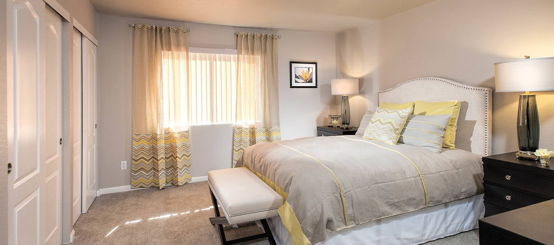 Spacious Master Bedroom at Deer Valley Apartment Homes in Roseville, California