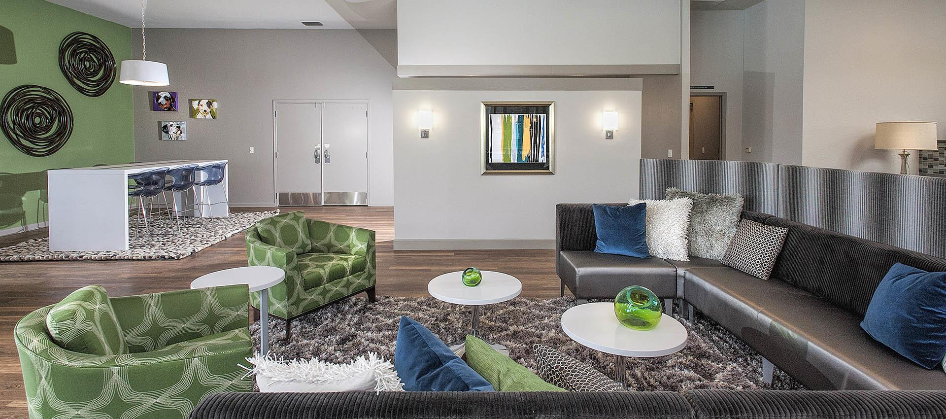 Spacious Seating Area In Clubhouse at Deer Valley Apartment Homes in Roseville, California