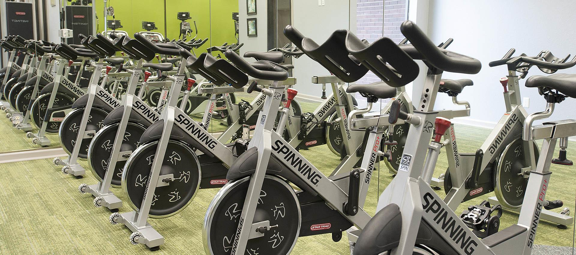 Spin Bikes In Fitness Center at Deer Valley Apartment Homes in Roseville, California