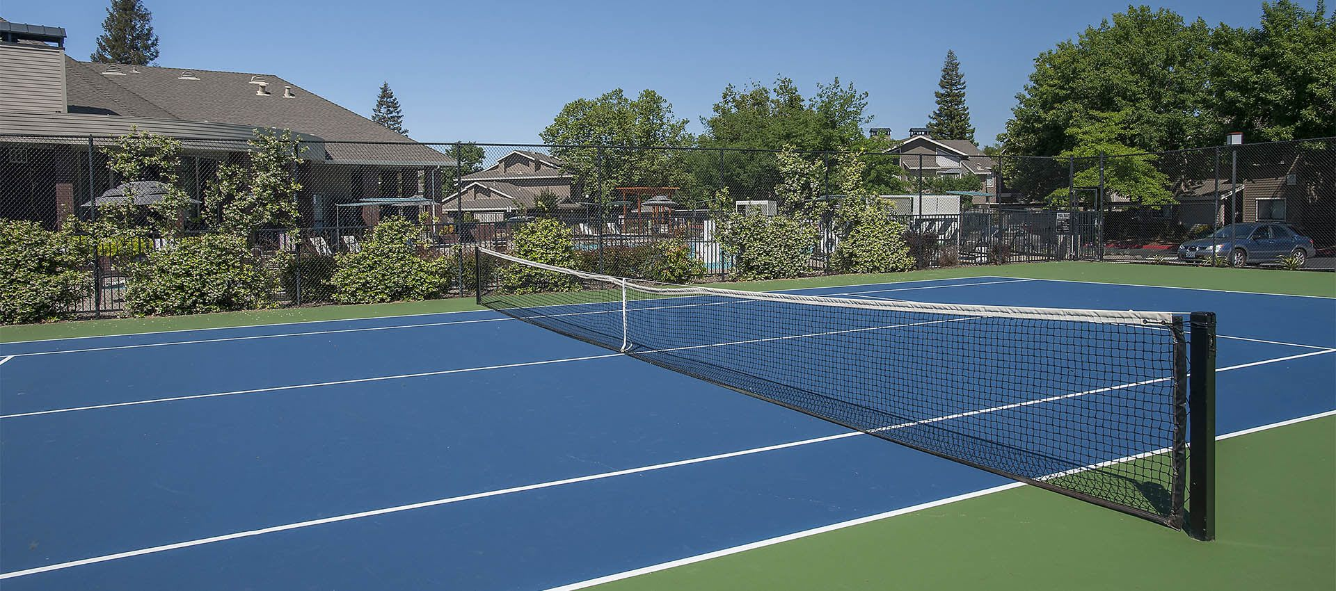 Tennis Courts at Deer Valley Apartment Homes in Roseville, California