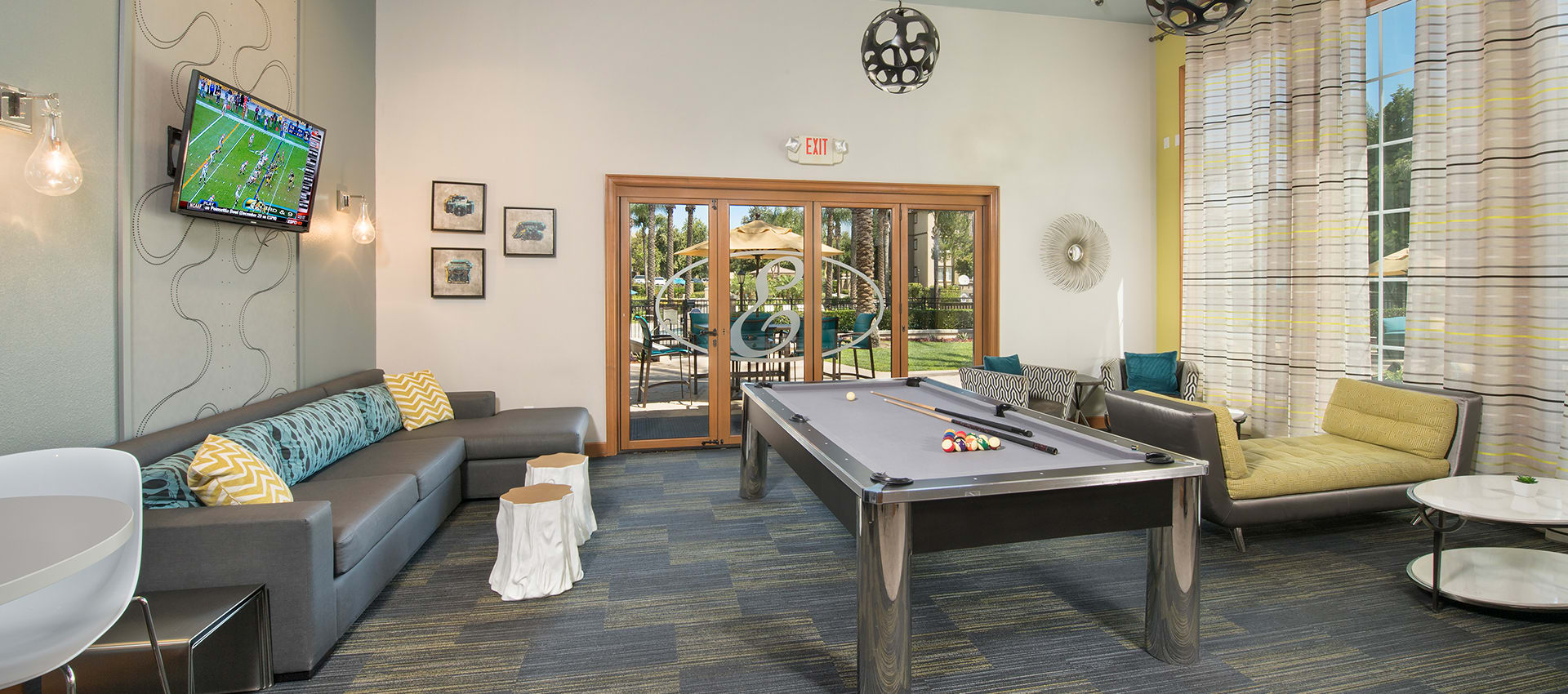 Clubhouse Pool Table at Esplanade Apartment Homes in Riverside, CA