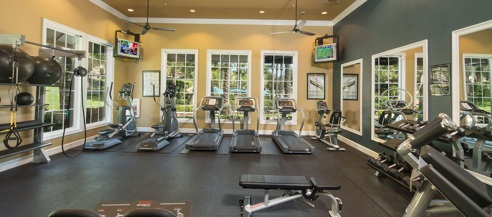 24 Hour Fitness Center at Esplanade Apartment Homes in Riverside, California