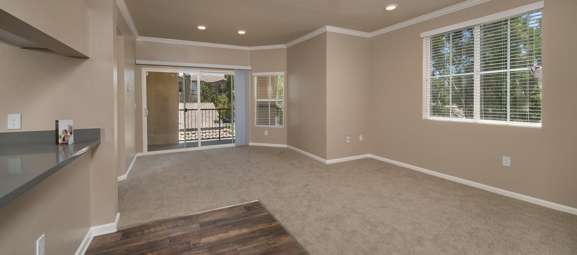 Spacious floor plan at Esplanade Apartment Homes in Riverside, California