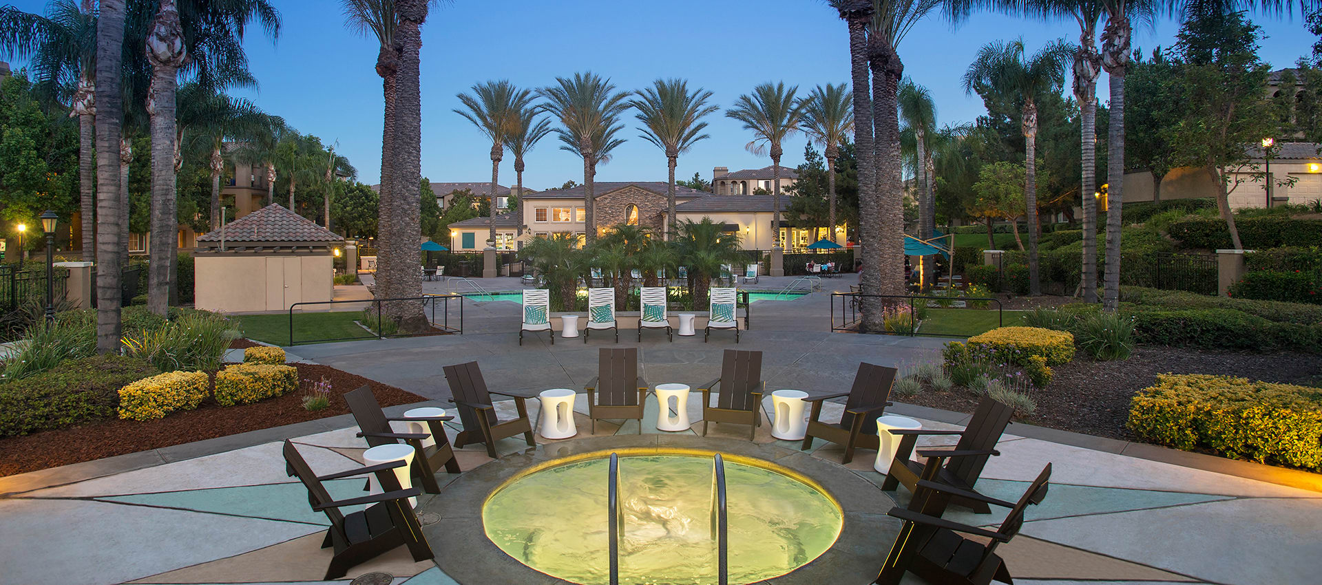 Resort Style Pool And Spa at Esplanade Apartment Homes in Riverside, CA