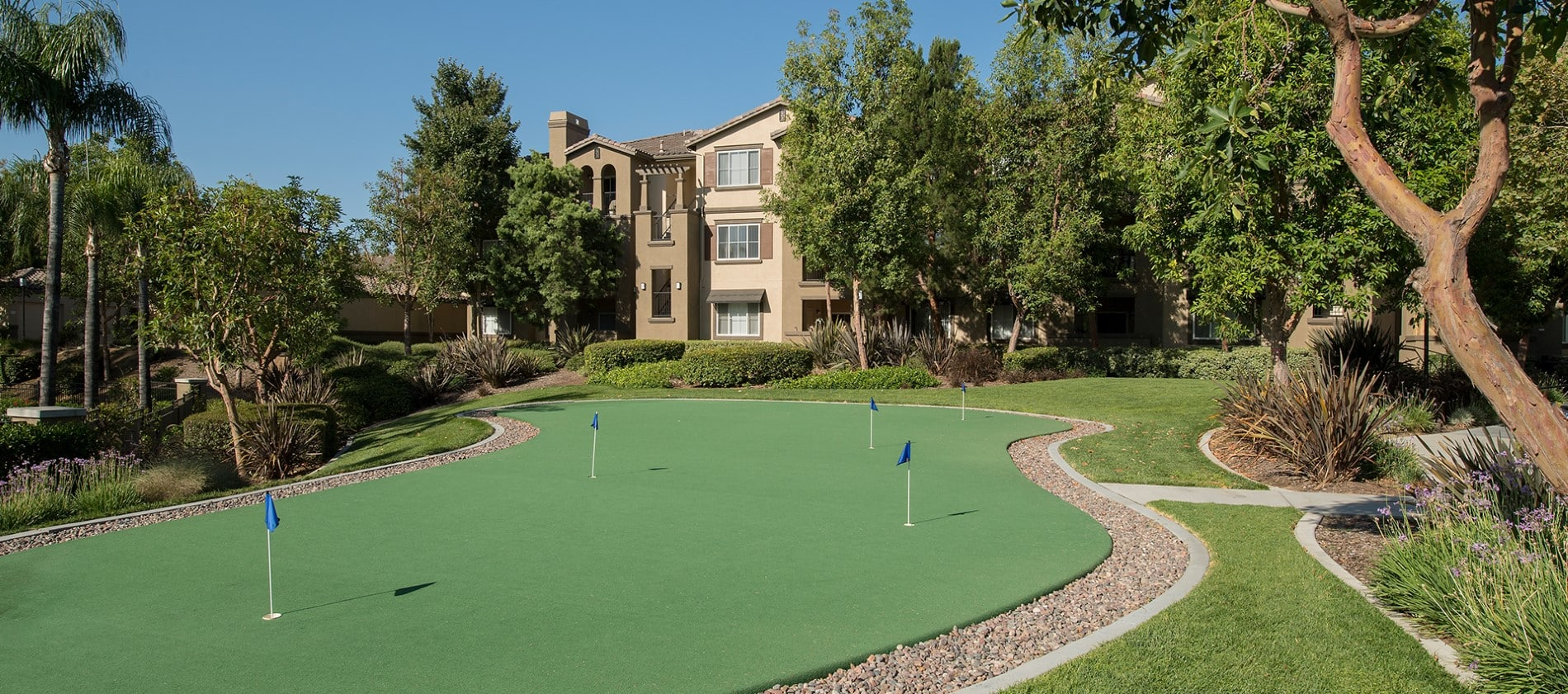 Putting Course at Esplanade Apartment Homes in Riverside, CA