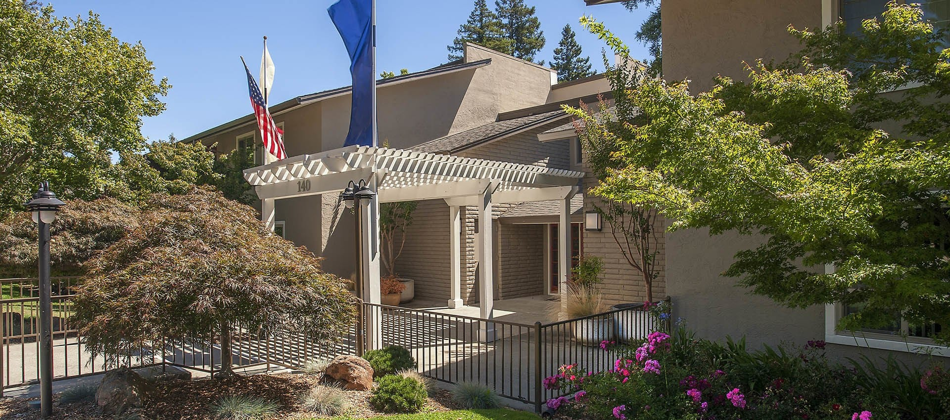 Leasing Office Entrance at Flora Condominium Rentals in Walnut Creek, California