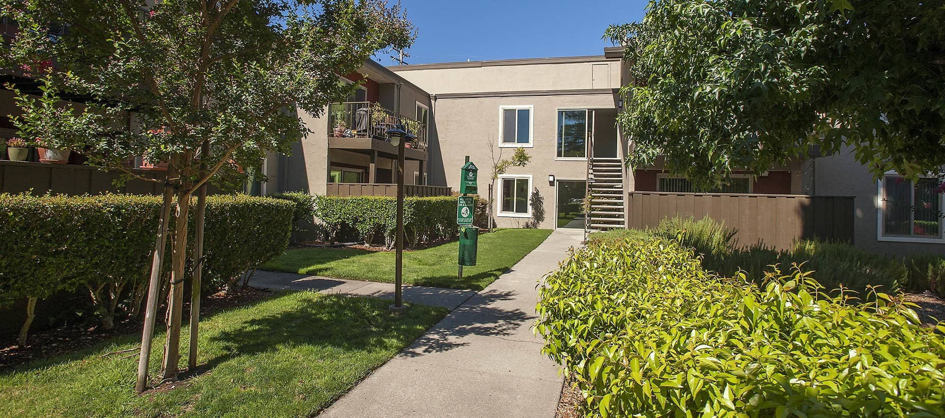 Pathway To Residence at Flora Condominium Rentals in Walnut Creek, California