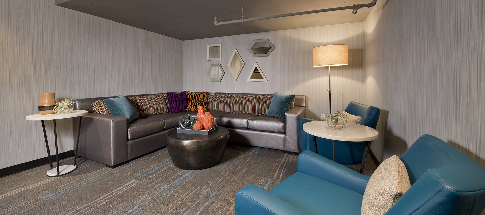 Residents Lounge at Harrison Tower in Portland, Oregon