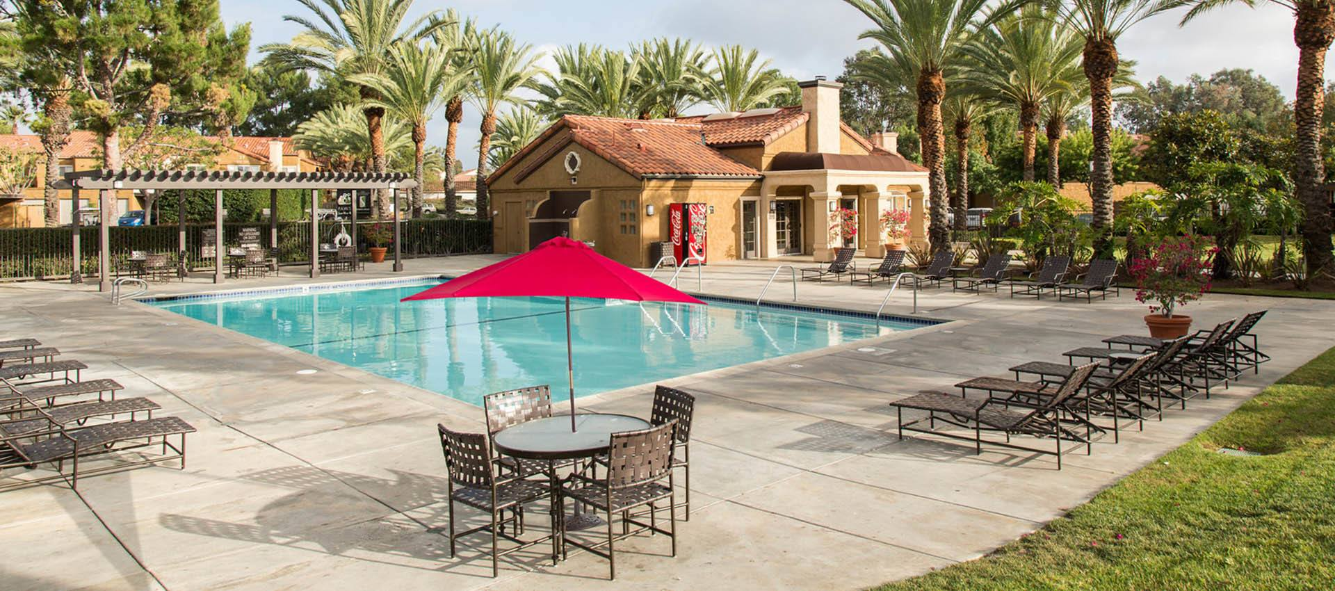 Resort Style Swimming Pool at Hidden Hills Condominium Rentals in Laguna Niguel, CA