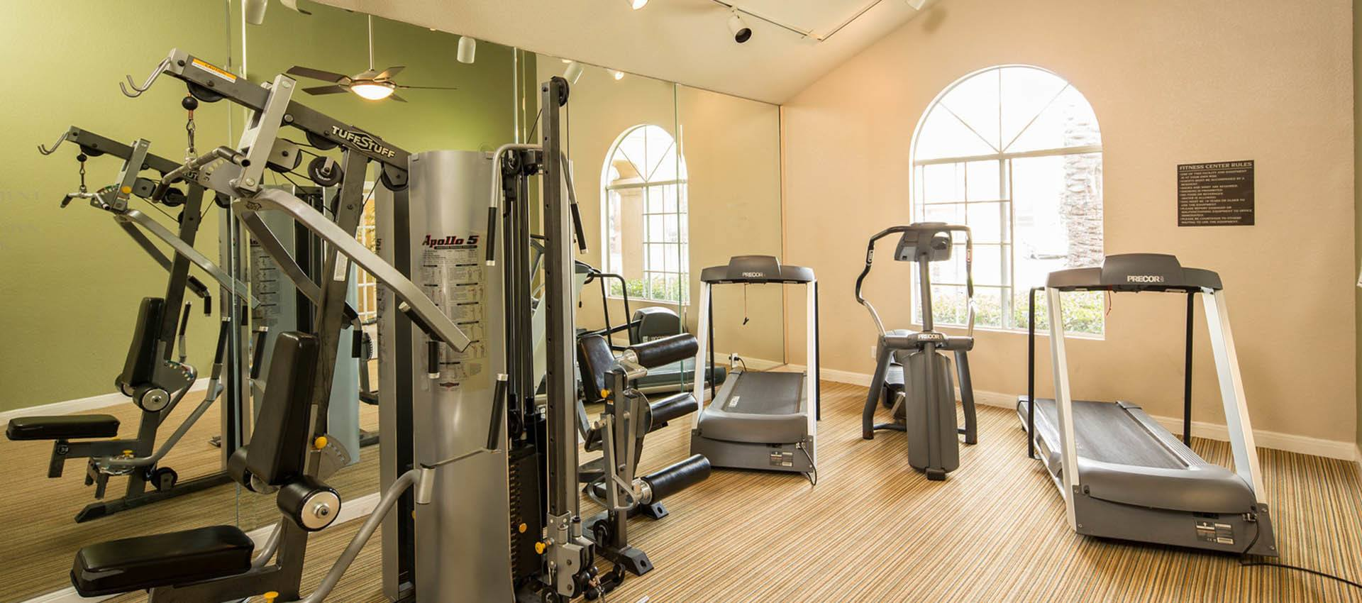 Well Equipped Fitness Center at Hidden Hills Condominium Rentals in Laguna Niguel, CA