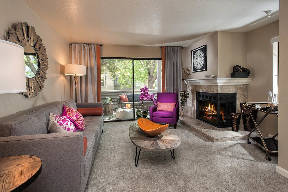 Beautifully Decorated Living Room at Hidden Lake Condominium Rentals