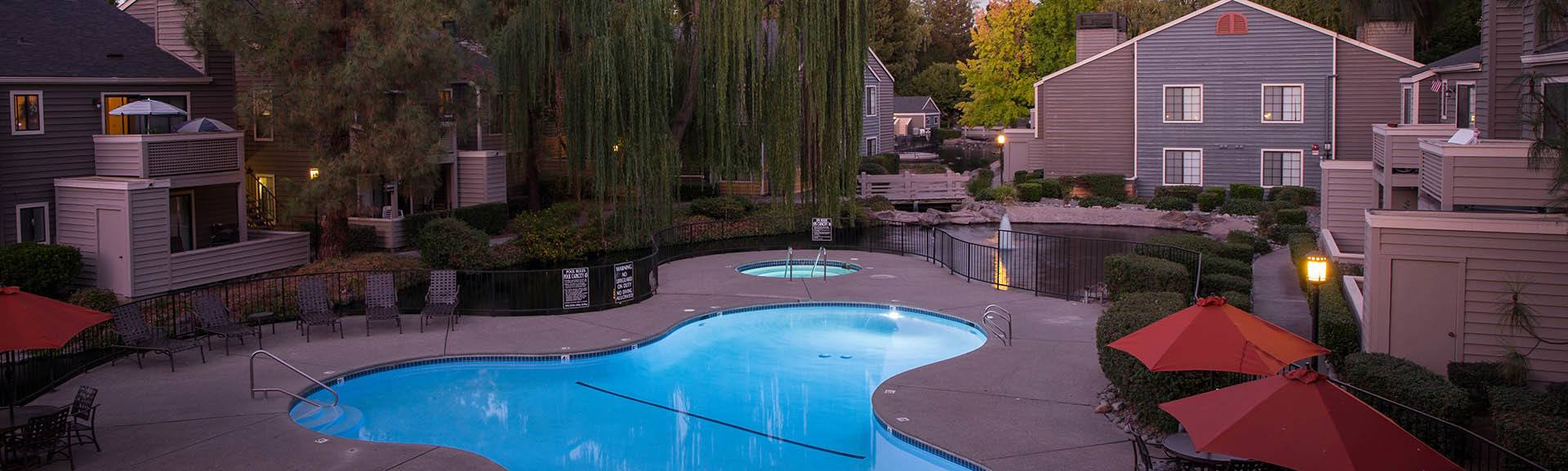 Amenities at Hidden Lake Condominium Rentals in Sacramento, California