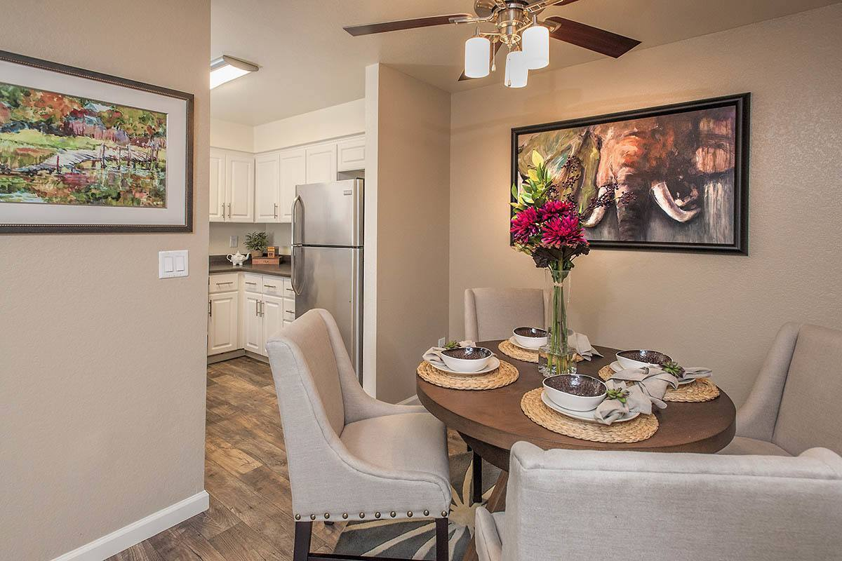 Modern Dining Area at Hidden Lake Condominium Rentals