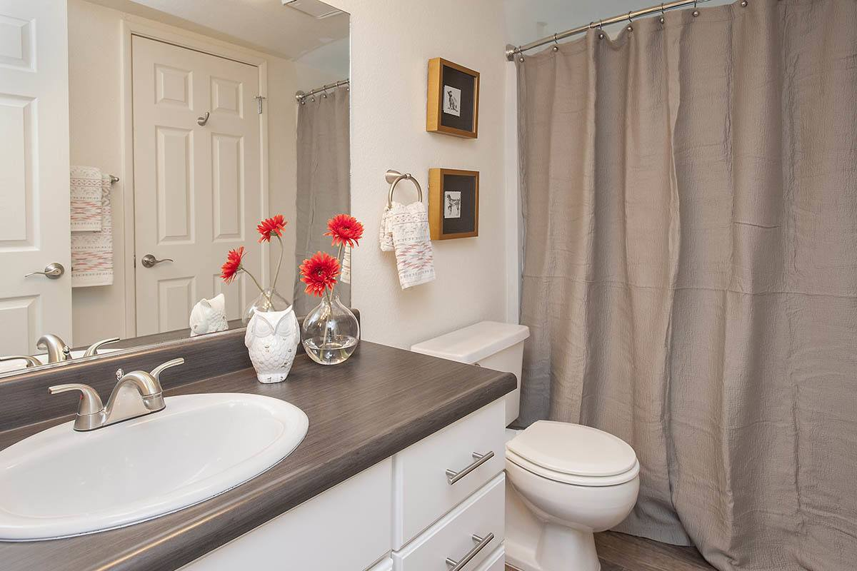 Nicely Decorated Bathroom at Hidden Lake Condominium Rentals