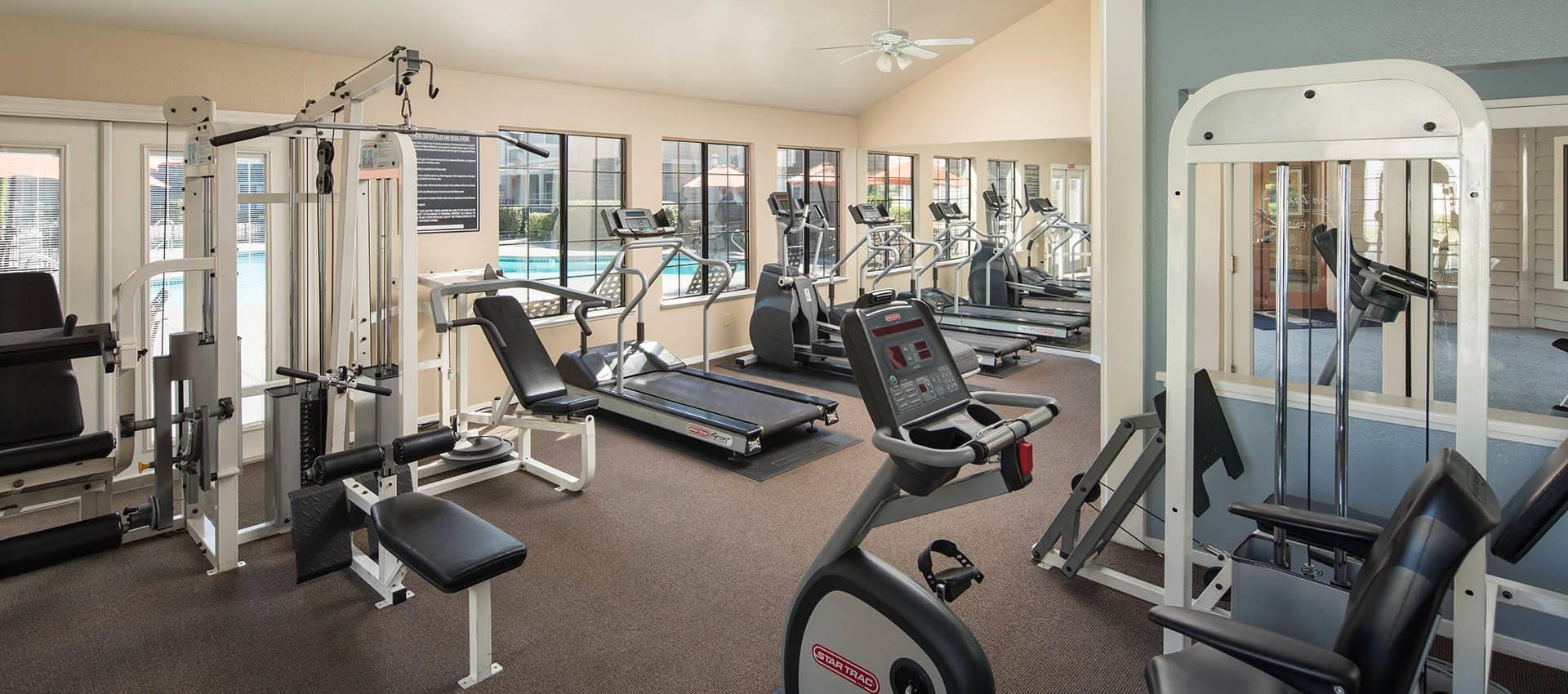 Resident's Fitness Center at Hidden Lake Condominium Rentals in Sacramento, California