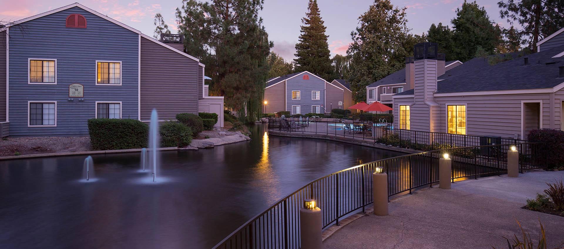 Serene Lakes & Fountains at Hidden Lake Condominium Rentals in Sacramento, California