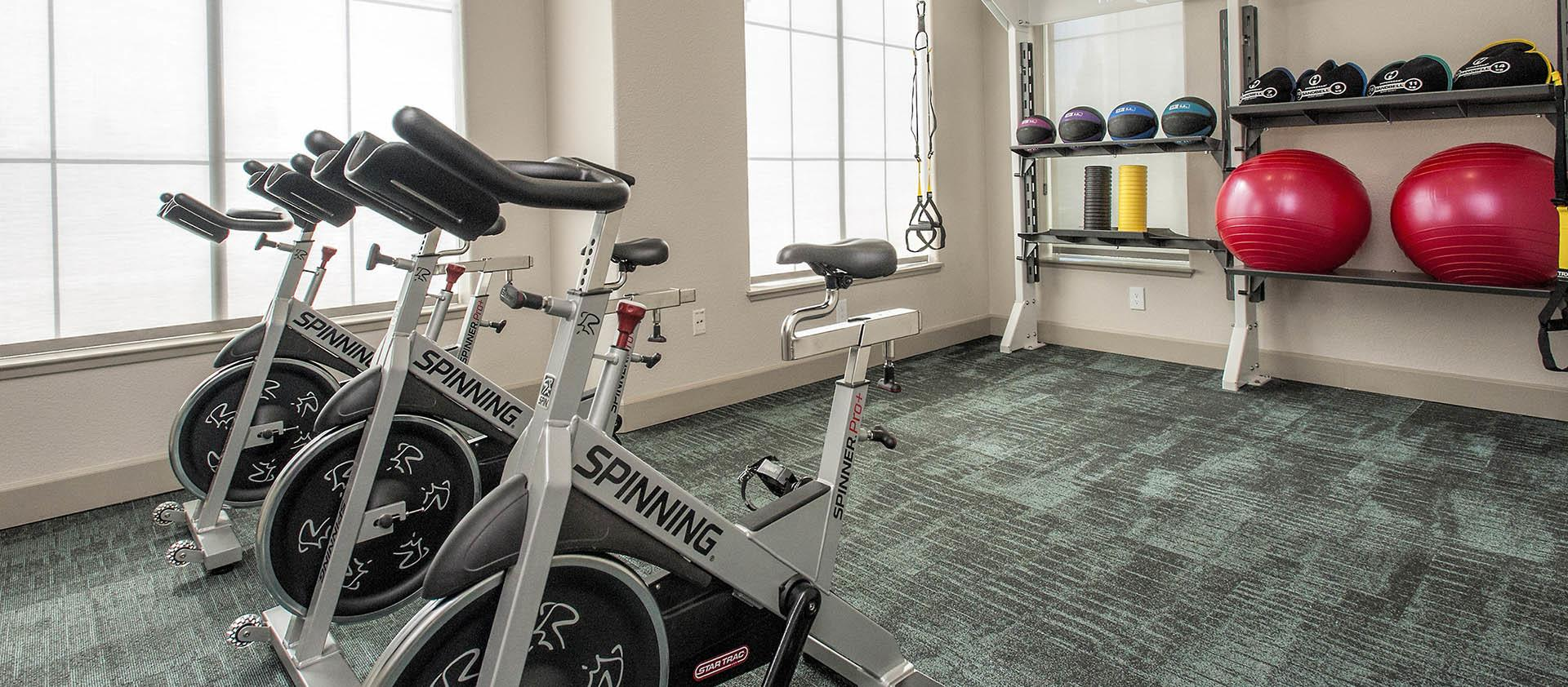 24-Hour OnDemand Yoga and Spin in our fitness center
