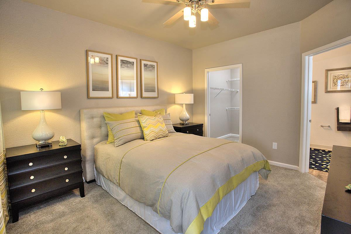 Bedroom With Walk-in Closet at Iron Point at Prairie Oaks