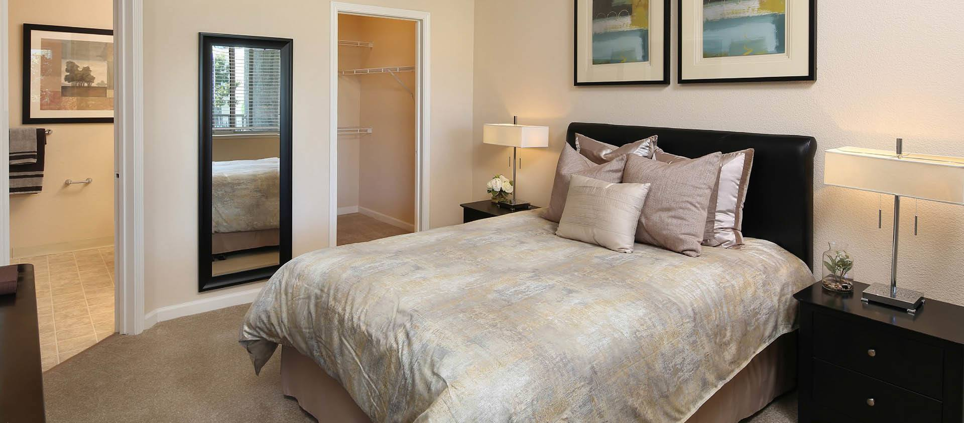 Nicely Decorated Master Bedroom at Iron Point at Prairie Oaks in Folsom, California
