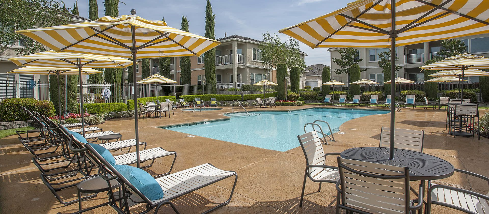 Resort Style Pool Area at Iron Point at Prairie Oaks in Folsom, California