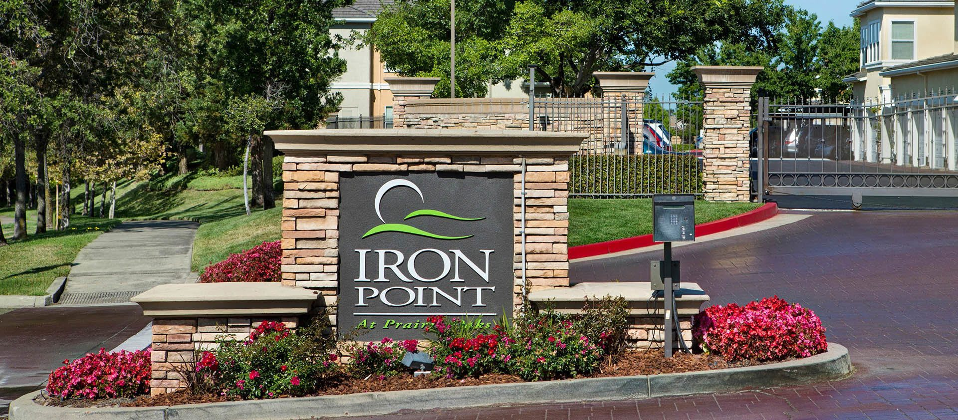 Signage at Iron Point at Prairie Oaks in Folsom, California