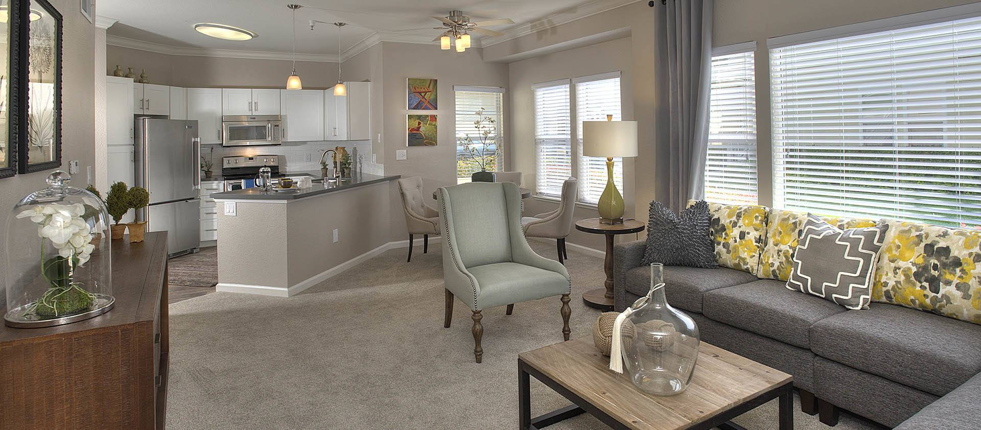 Spacious Living Room at Iron Point at Prairie Oaks in Folsom, California