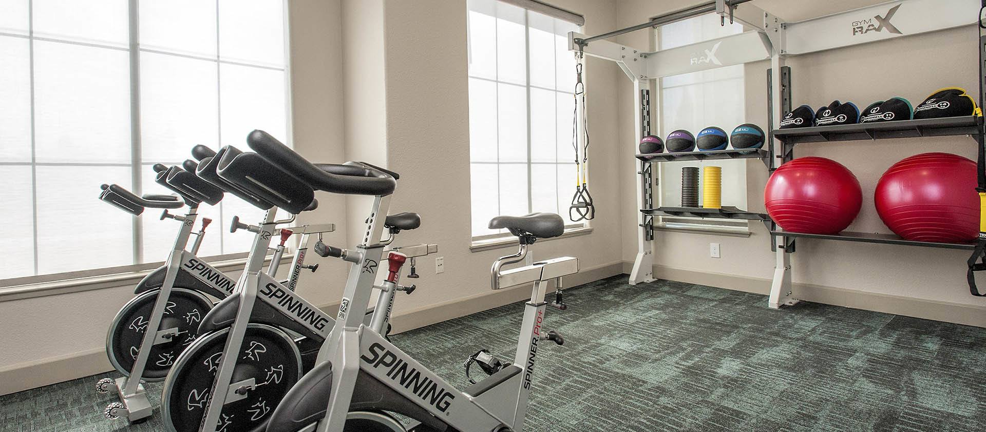 Spin Bikes And Medicine Balls at Iron Point at Prairie Oaks in Folsom, California