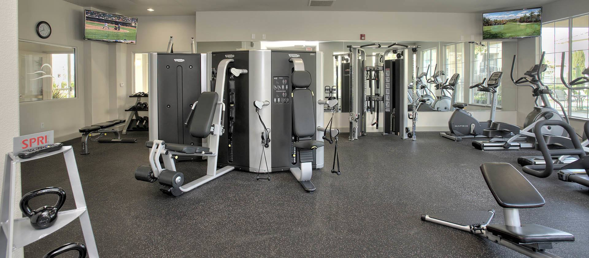 Well Equipped Fitness Center at Iron Point at Prairie Oaks in Folsom, California