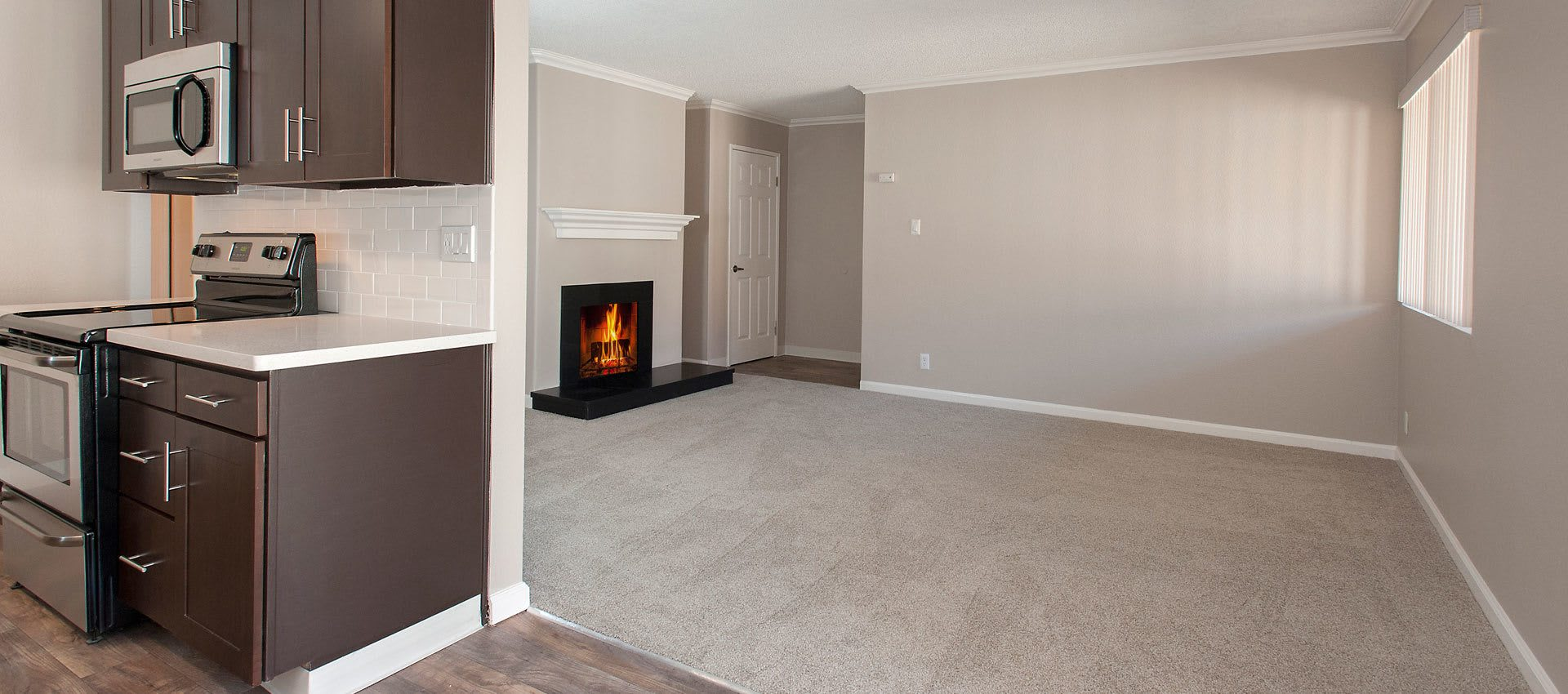 Spacious room at La Valencia Apartment Homes in Campbell, California
