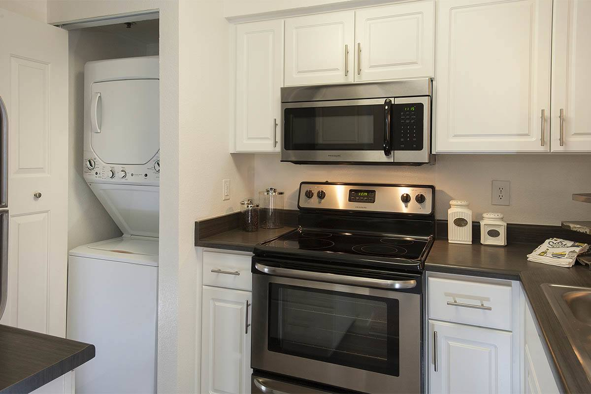 Enjoy a well equipped kitchen at Mill Springs Park Apartment Homes in Livermore, California
