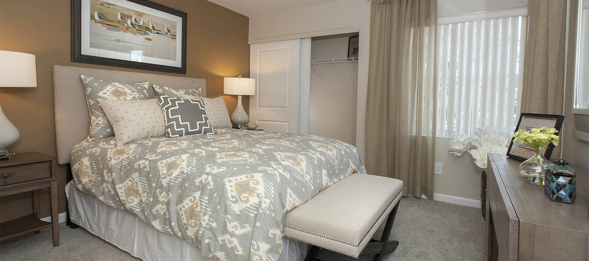 Large Master Bedrooms at Mill Springs Park Apartment Homes