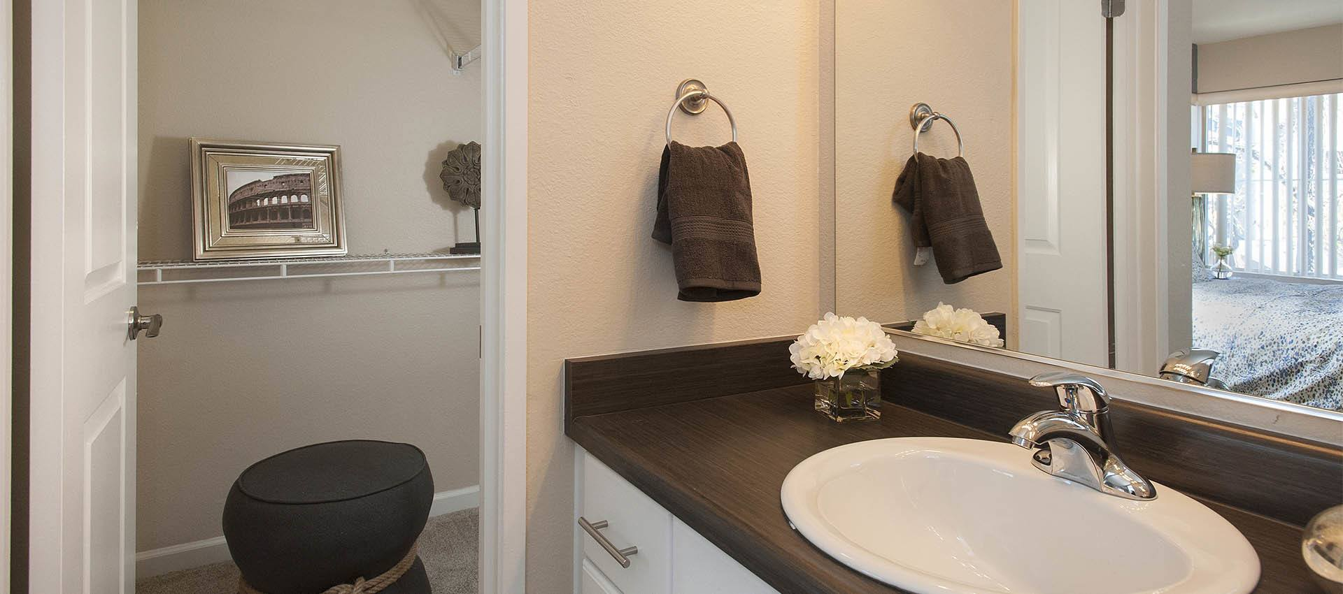 Modern Bathrooms at Mill Springs Park Apartment Homes in Livermore