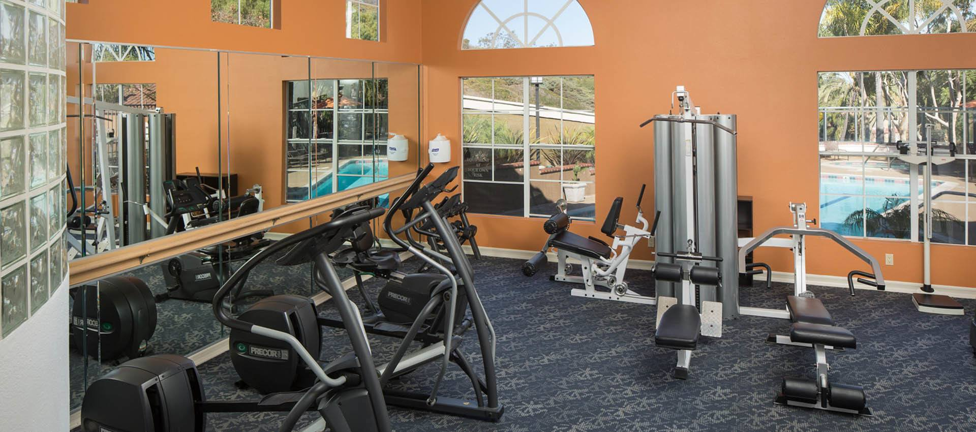 Fitness center at Niguel Summit Condominium Rentals in Laguna Niguel, California