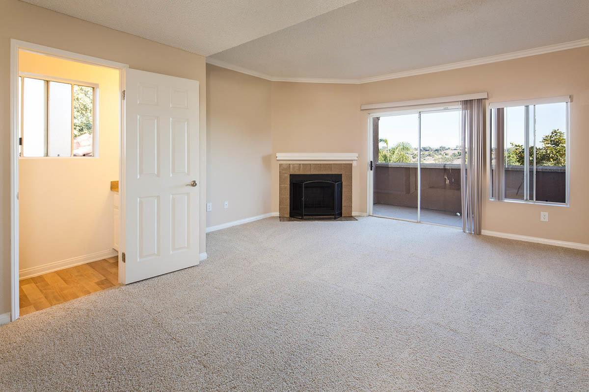 Spacious Living Room With Fireplace at Niguel Summit Condominium Rentals