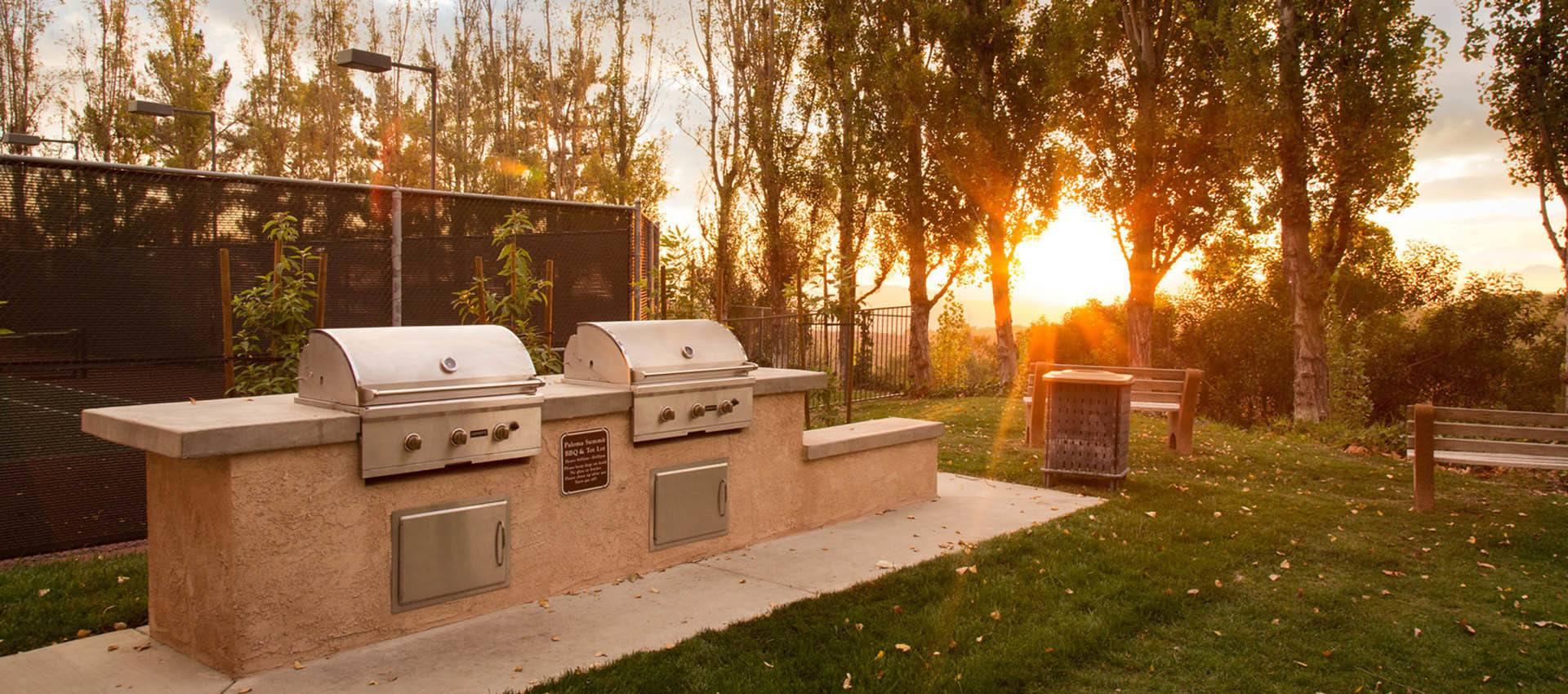 Enjoy Our Onsite Bbq Grills at Paloma Summit Condominium Rentals in Foothill Ranch, CA