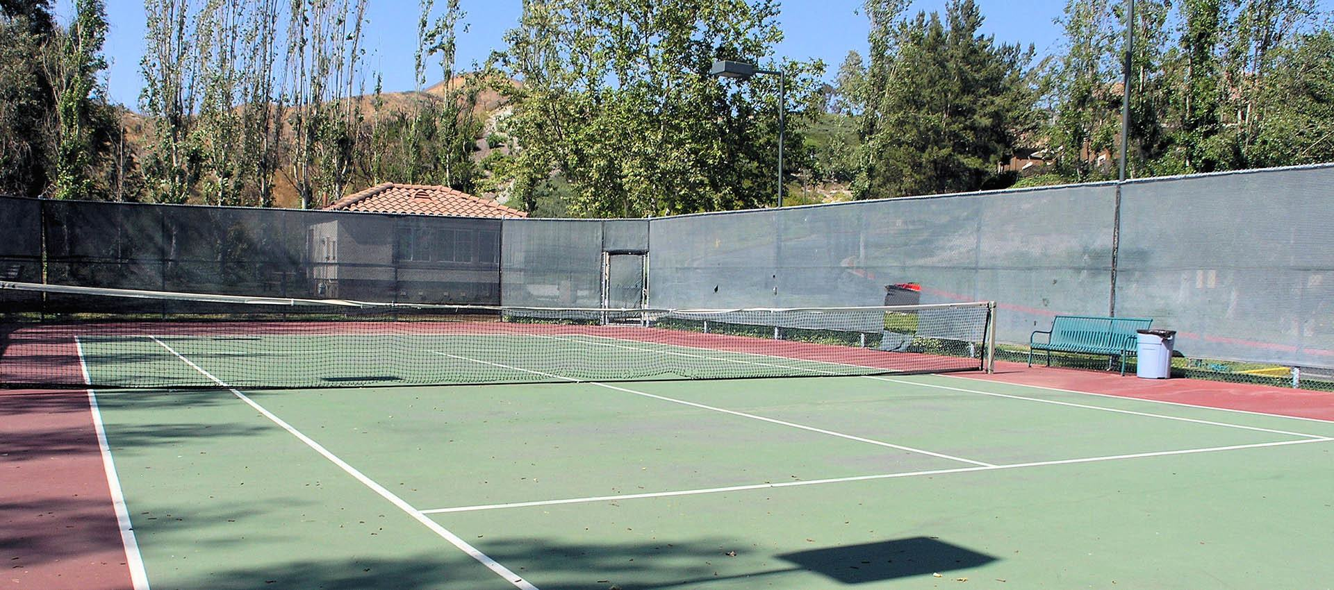 Tennis Courts at Paloma Summit Condominium Rentals in Foothill Ranch, CA