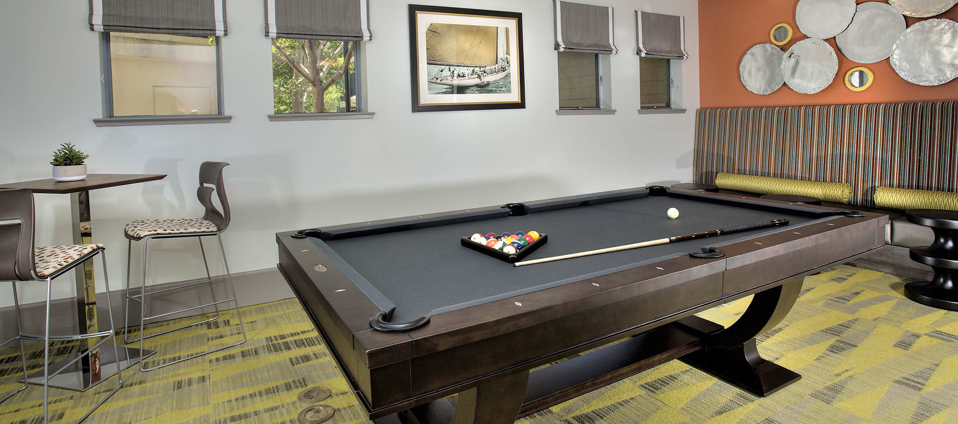 Billiards Lounge at Azure Apartment Homes in Petaluma, California