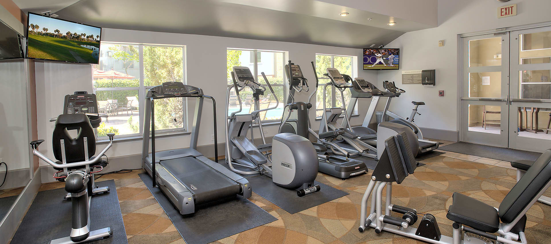 Cardio Equipment In Fitness Center at Azure Apartment Homes in Petaluma, California
