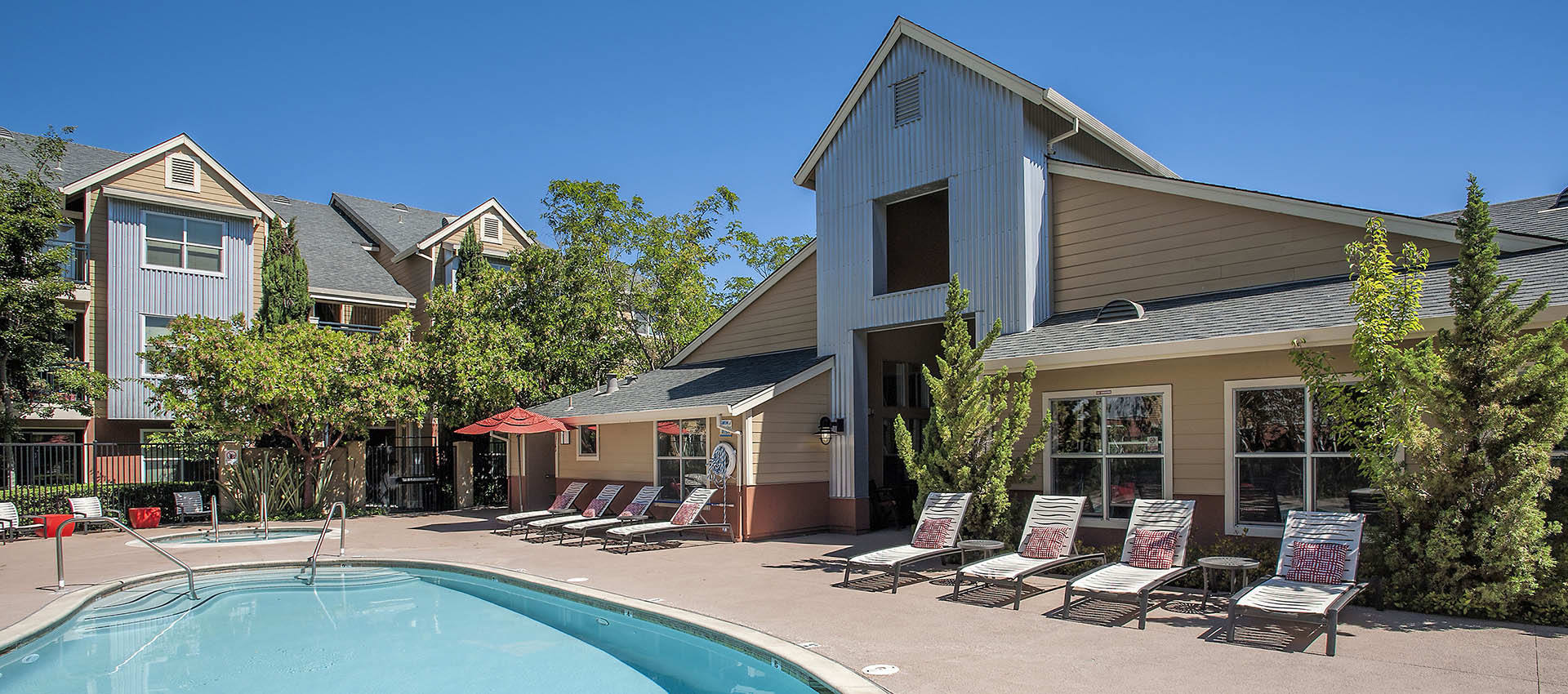 Catch Some Sun Around The Pool at Azure Apartment Homes in Petaluma, CA
