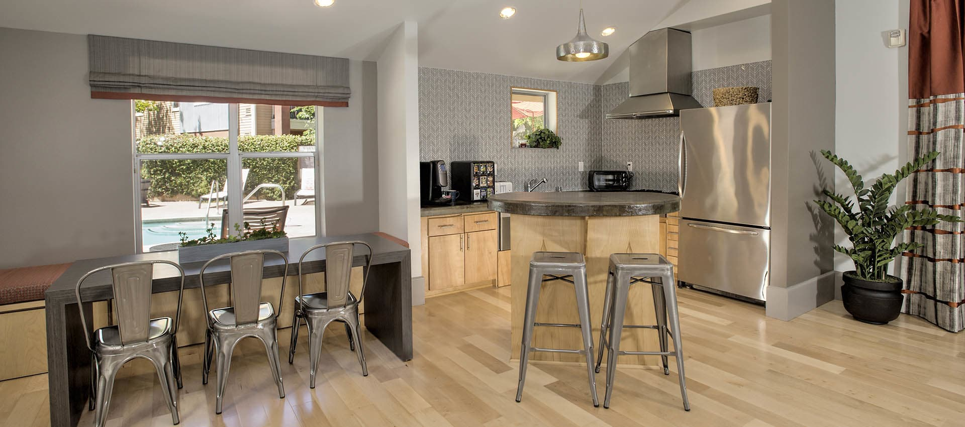Clubhouse With Gathering Kitchen at Azure Apartment Homes in Petaluma, California