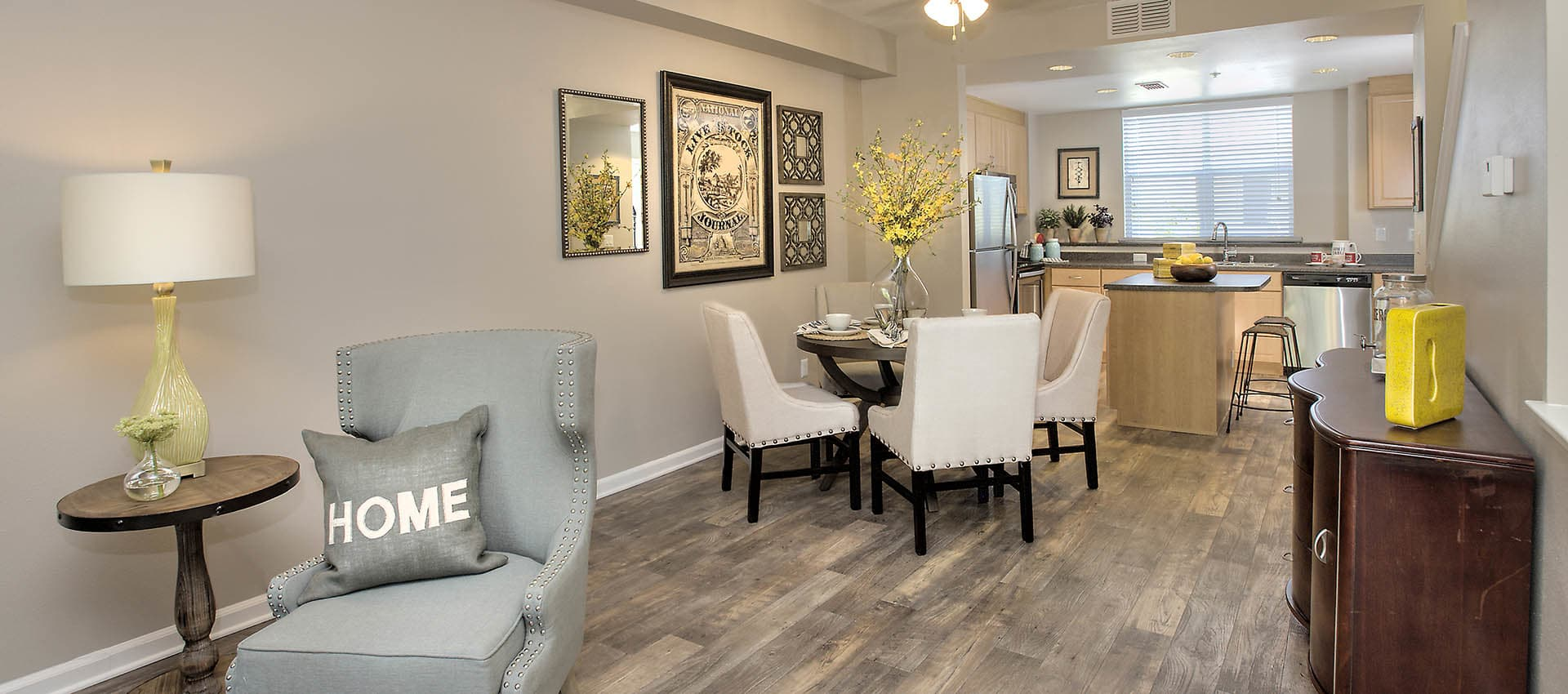 Dining Area With Laminate Flooring at Azure Apartment Homes in Petaluma, California