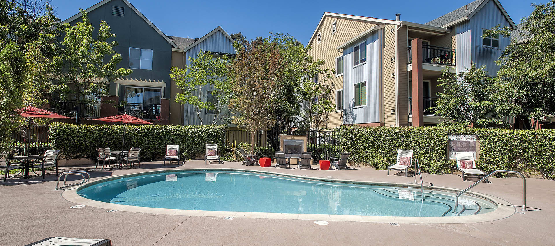 Expansive Pool Deck With Spa at Azure Apartment Homes in Petaluma, California