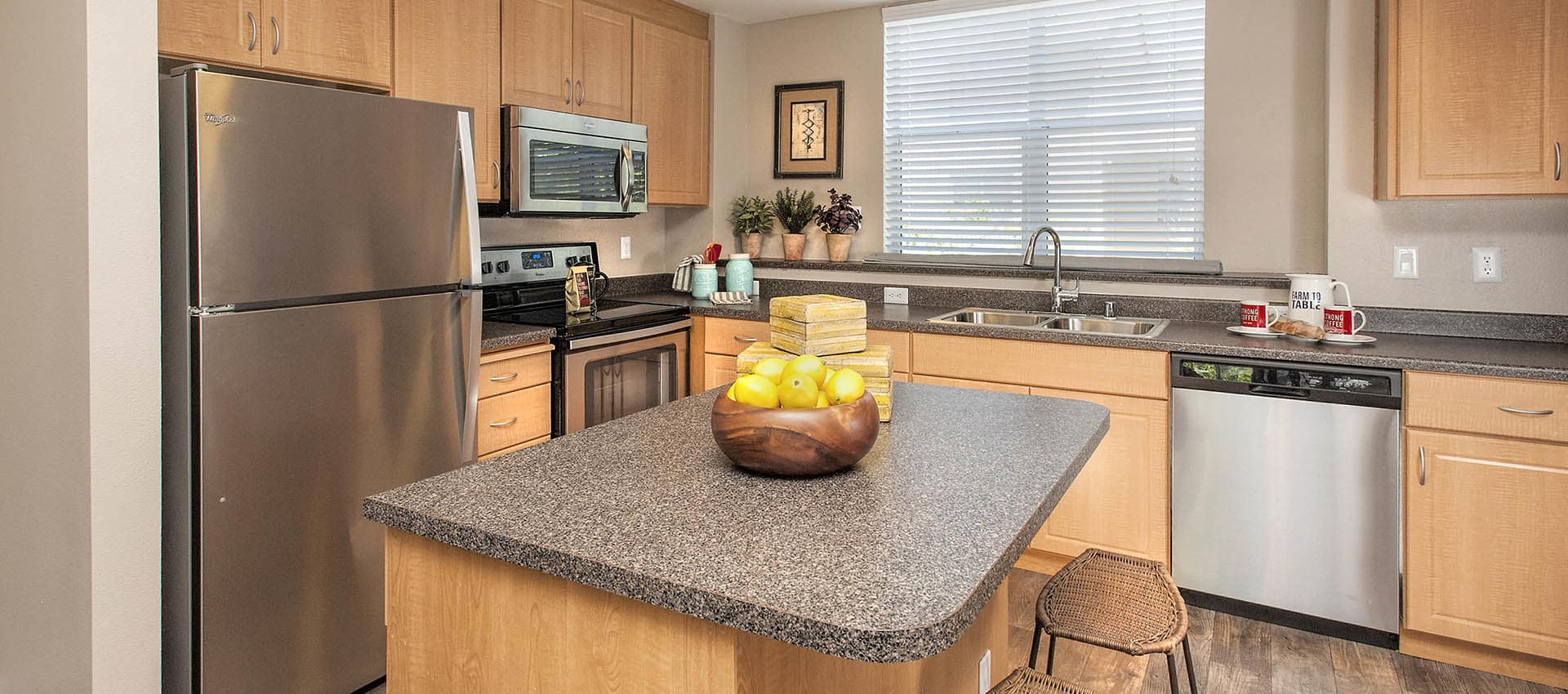 Island Counter In Kitchen at Azure Apartment Homes in Petaluma, California
