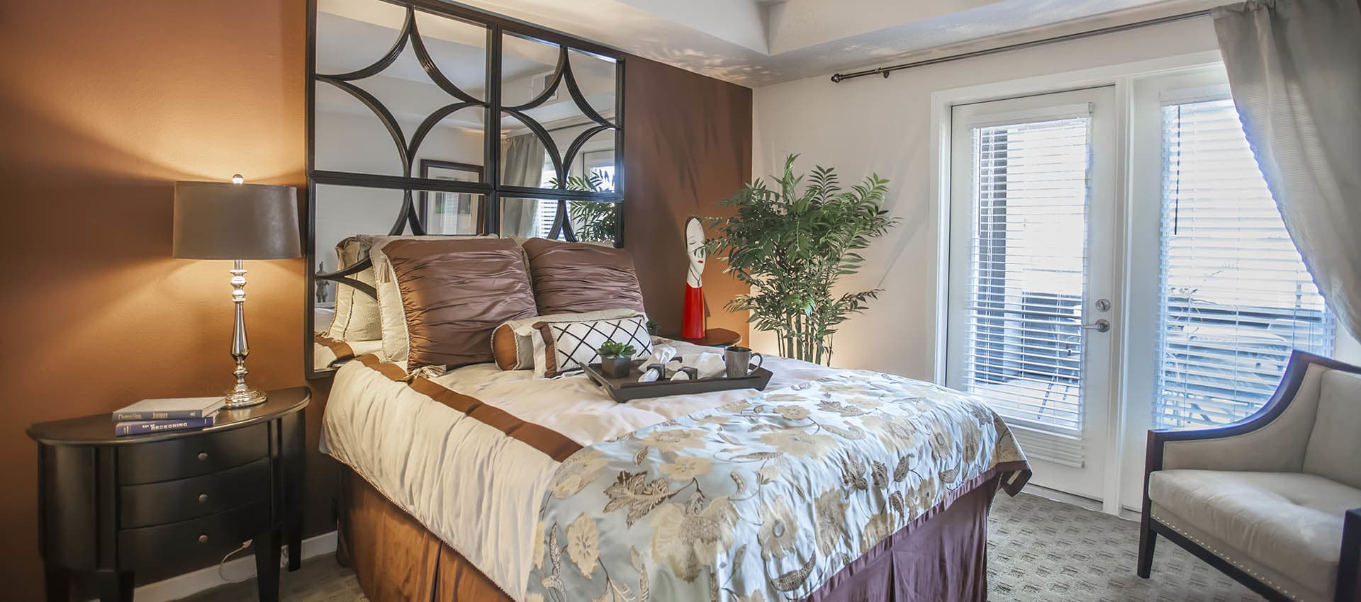 Large Bedroom With Exterior Doors at Azure Apartment Homes in Petaluma, California