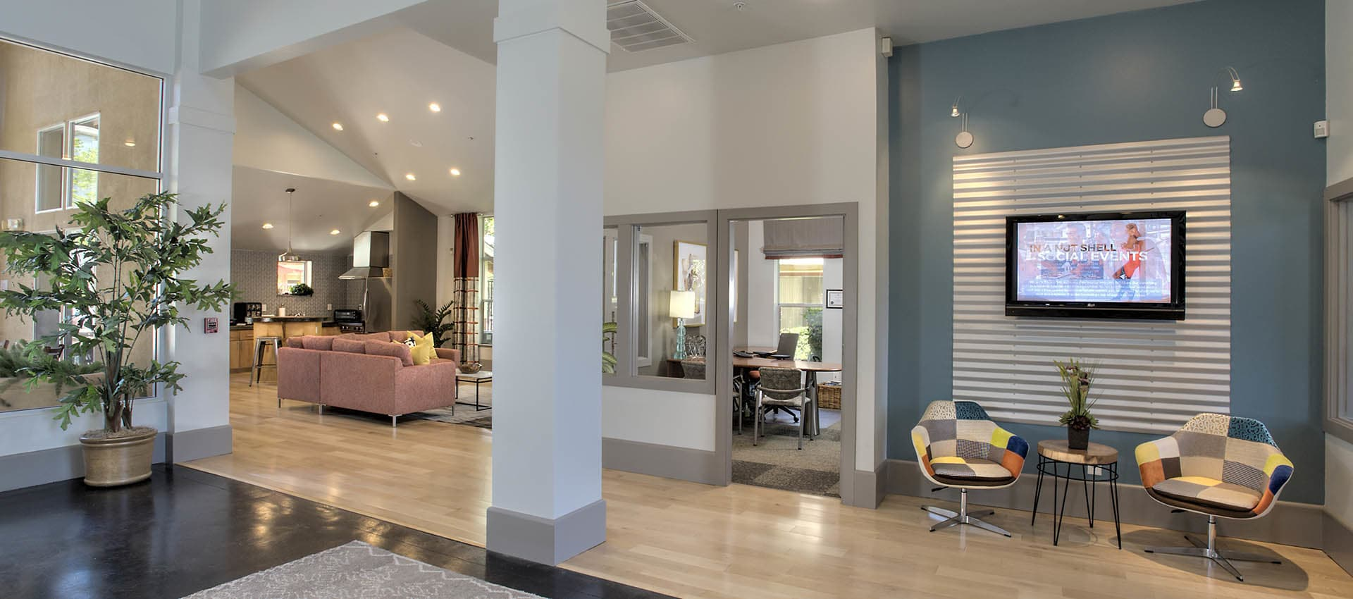 Large Lobby Area at Azure Apartment Homes in Petaluma, California