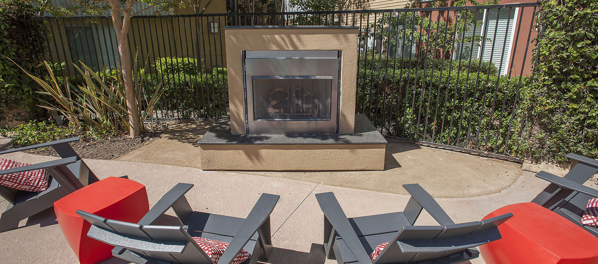 Outdoor Fireplace And Seating at Azure Apartment Homes in Petaluma, California