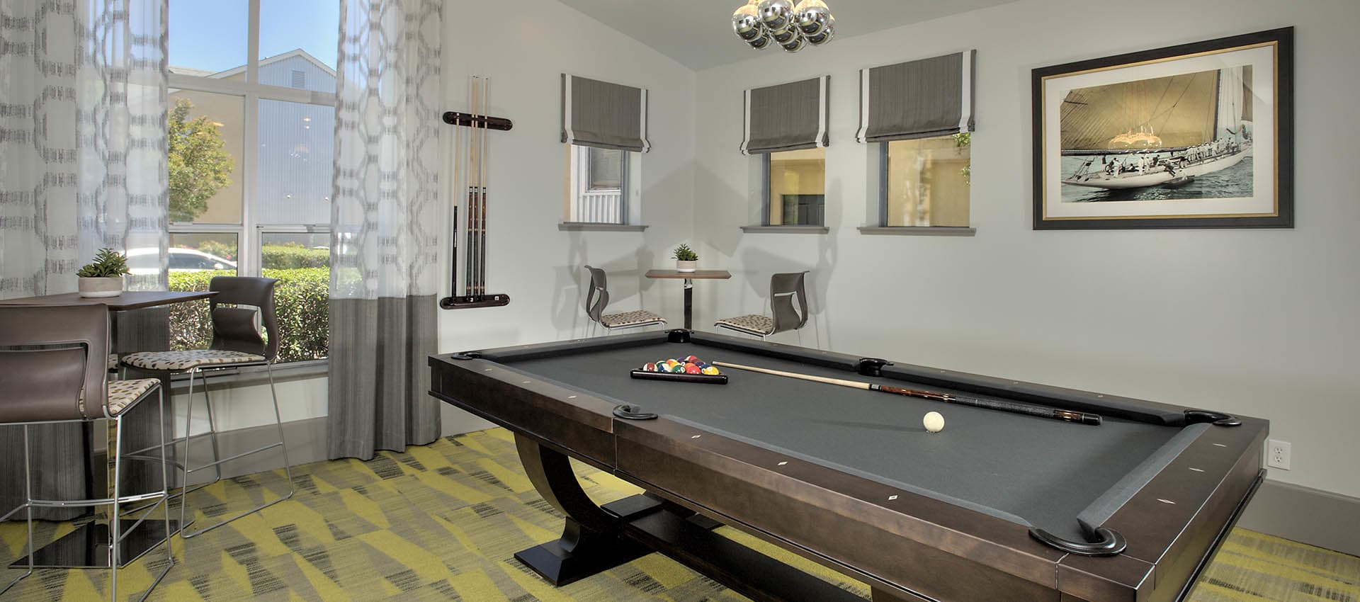 Pool Table In Clubhouse at Azure Apartment Homes in Petaluma, California