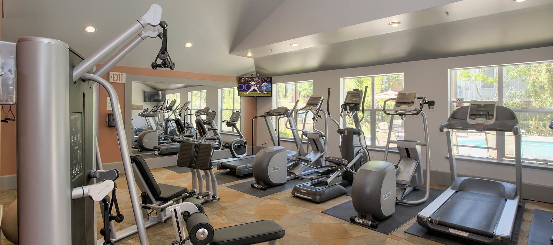 Well Equipped Fitness Center at Azure Apartment Homes in Petaluma, California