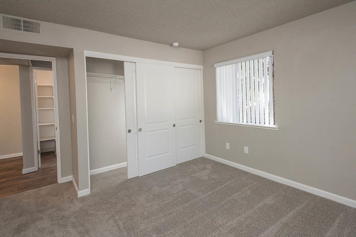 Bedroom With Large Closet at Plum Tree Apartment Homes