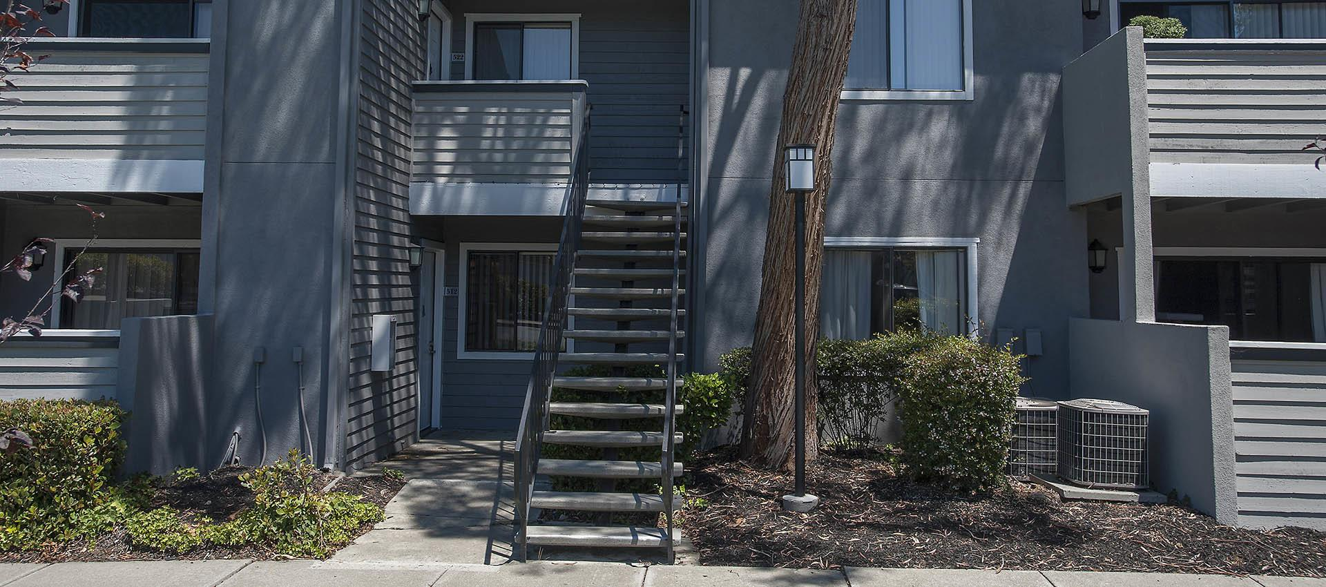 Stairs To Second Level Apartments at Plum Tree Apartment Homes in Martinez, CA